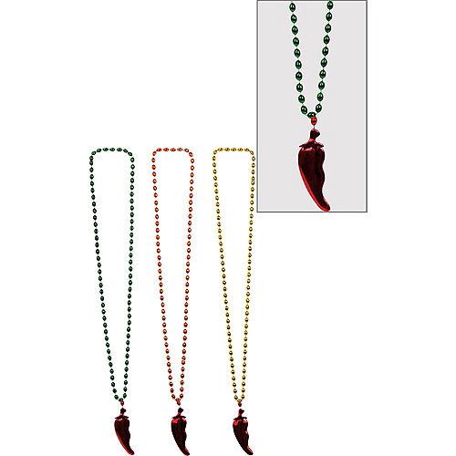Chili Pepper Pendant Bead Necklaces 3ct Image #1