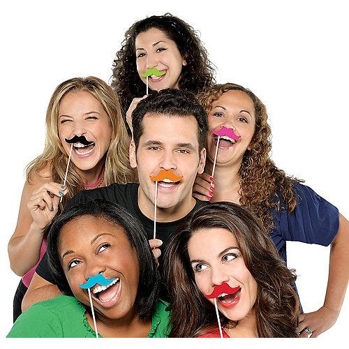 Moustache Photo Props 6ct Image #1