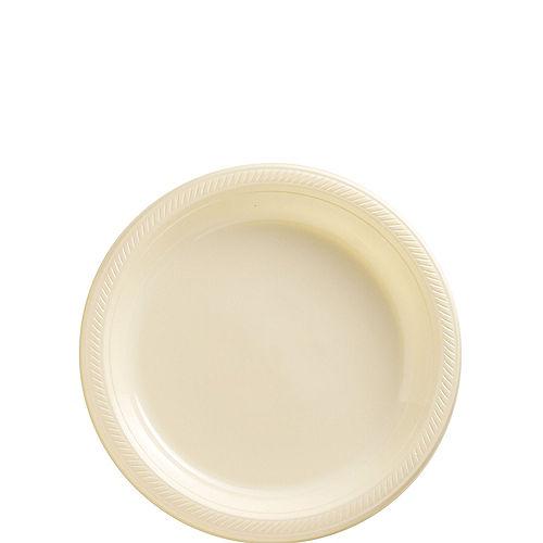 Vanilla Cream Plastic Dessert Plates 20ct Image #1