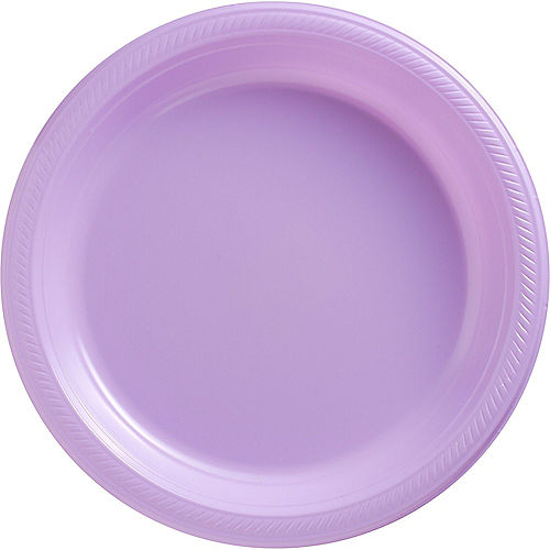 Lavender Plastic Dinner Plates 20ct Image #1
