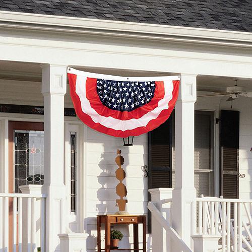 Large Patriotic American Flag Bunting Image #2