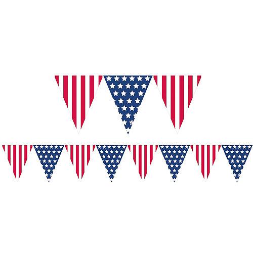 Patriotic American Flag Pennant Banner Image #1