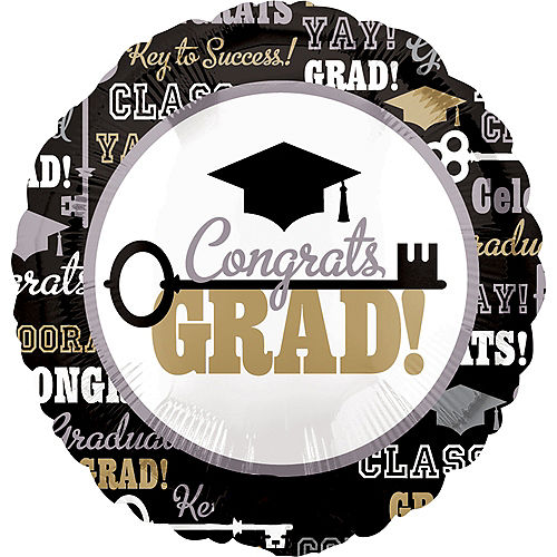 Graduation Balloon - Key to Success, 17in Image #1
