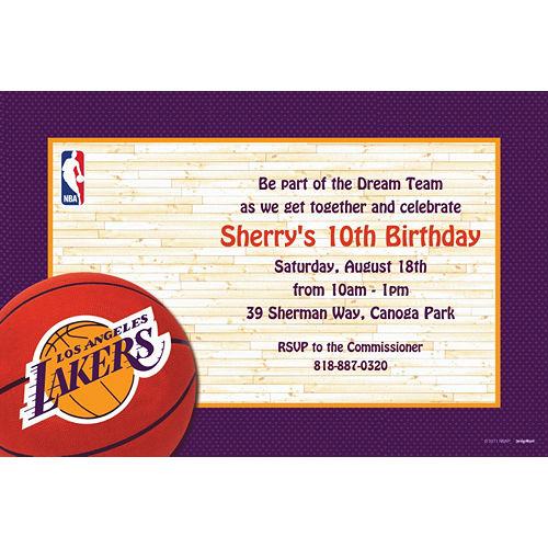 Custom Los Angeles Lakers Invitations Image #1