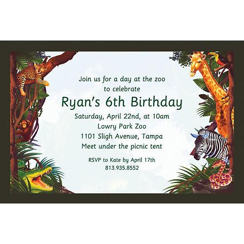 Custom Jungle Safari Invitations Image #1