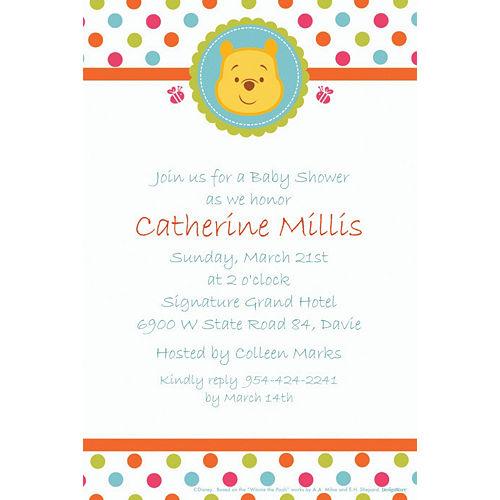 Custom Winnie the Pooh Baby Shower Invitations Image #1