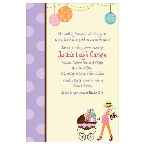 Custom Modern Mommy Invitations Image #1