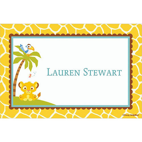 Custom Lion King Baby Shower Thank You Notes Image #1