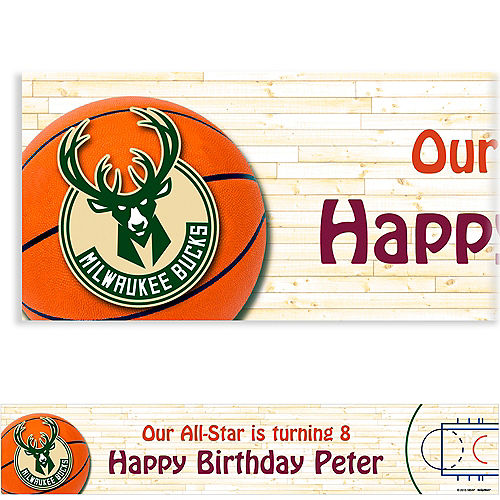Custom Milwaukee Bucks Banner 6ft Image #1