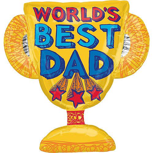 World's Best Dad Trophy Balloon, 35in Image #1