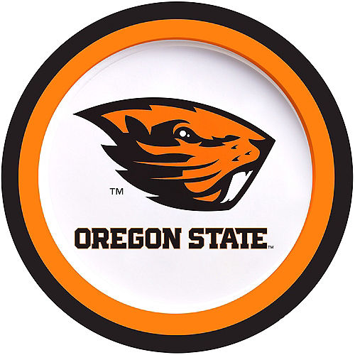 Oregon State Beavers Lunch Plates 10ct Image #1
