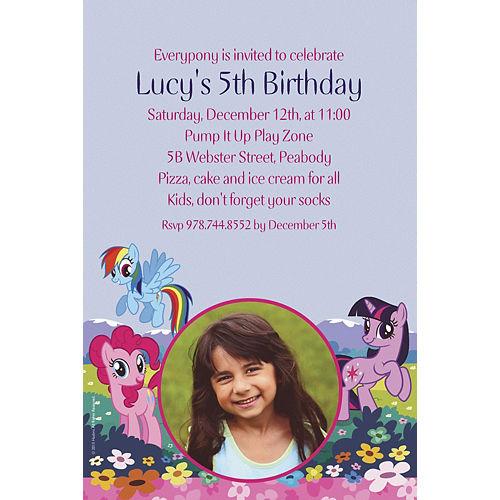 Custom My Little Pony Friends Photo Invitations Image #1