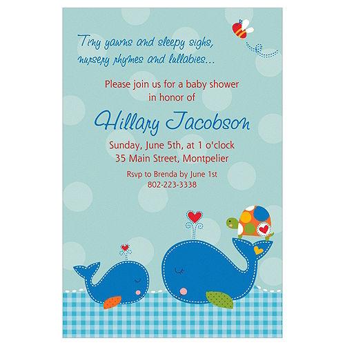 Custom Ahoy Baby Invitations Image #1