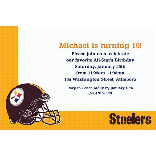 Custom Pittsburgh Steelers Invitations Image #1