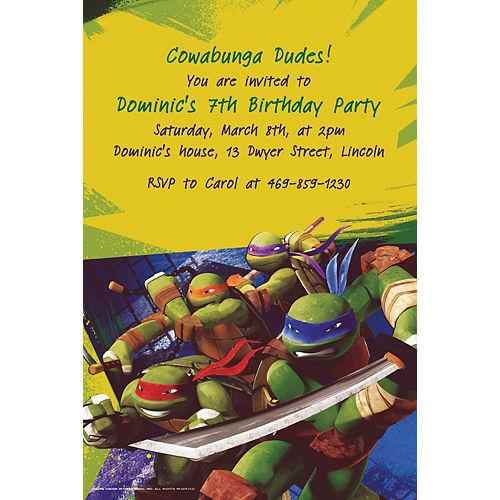 Custom Teenage Mutant Ninja Turtles Invitations Image #1