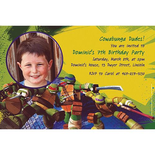 Custom Teenage Mutant Ninja Turtles Photo Invitations Image #1