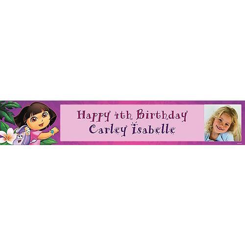 Custom Dora Flower Fun Photo Banner 6ft Image #1