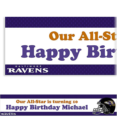 Custom Baltimore Ravens Banner 6ft Image #1