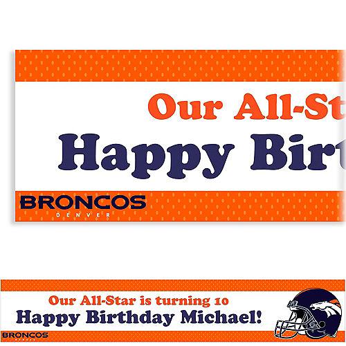 Custom Denver Broncos Banner 6ft Image #1