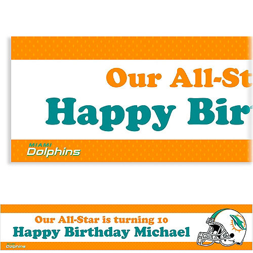 Custom Miami Dolphins Banner 6ft Image #1