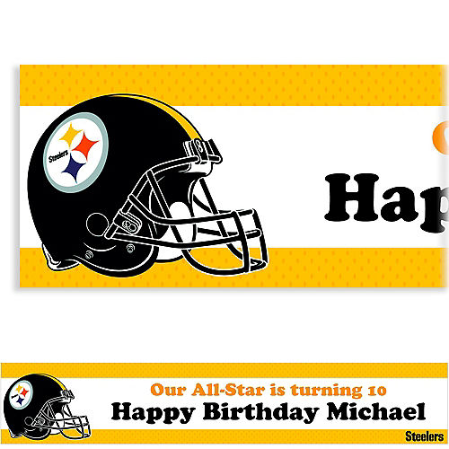 Custom Pittsburgh Steelers Banner 6ft Image #1