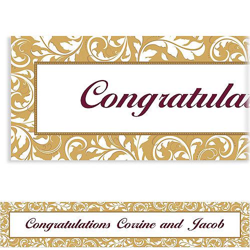 Custom Golden Wedding Banner 6ft Image #1