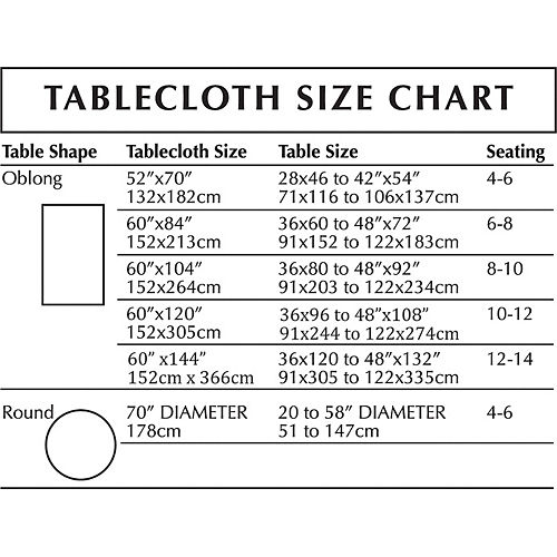 Silver Fabric Tablecloth Image #2
