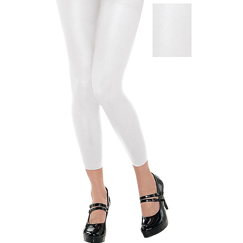 Footless White Tights Image #1