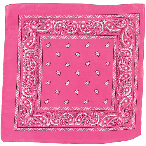 Pink Paisley Bandana, 20in x 20in Image #2