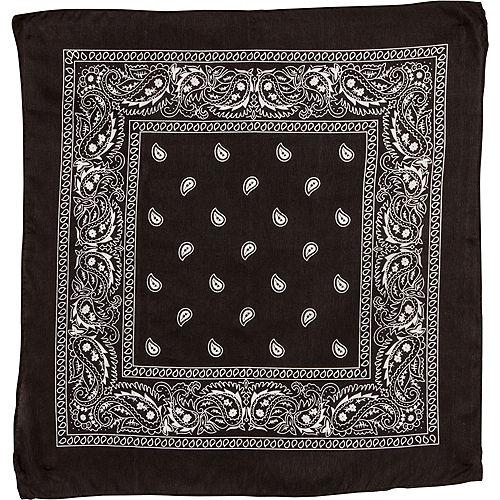 Black Paisley Bandana, 20in x 20in Image #2