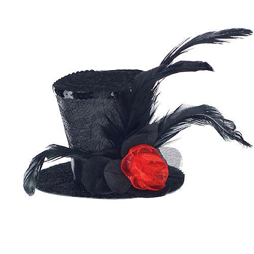 Black Clip-On Mini Top Hat Image #2