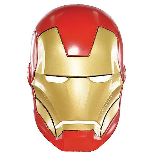 Child Plastic Iron Man Mask Image #1