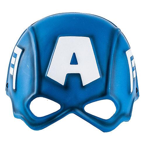 Child Plastic Captain America Mask Image #1