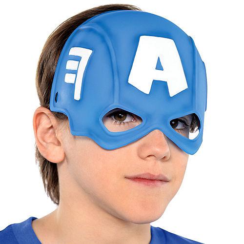Child Plastic Captain America Mask Image #2