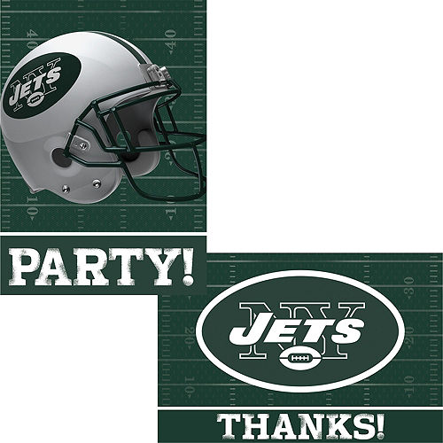 New York Jets Invitations & Thank You Notes For 8 Image #1