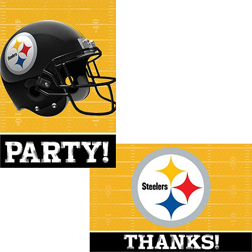 Pittsburgh Steelers Invitations & Thank You Notes For 8 Image #1