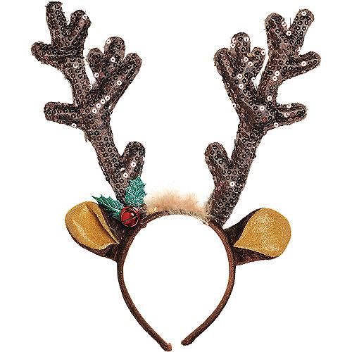 Sequin Reindeer Antlers Headband Image #1