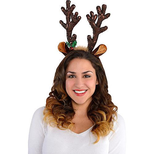Sequin Reindeer Antlers Headband Image #2