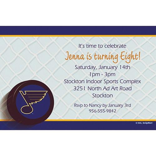 Custom St. Louis Blues Invitations Image #1
