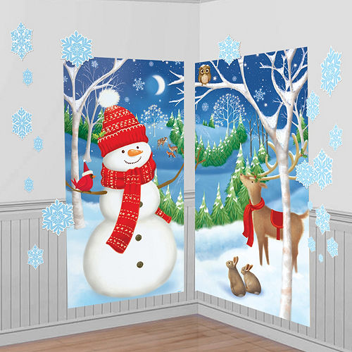 Winter Wall Decorations 32pc Image #1