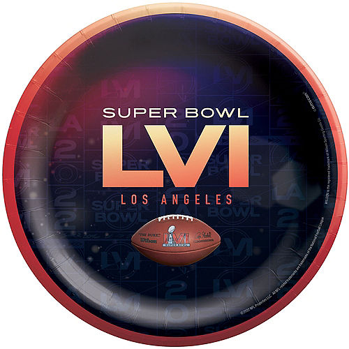 Super Bowl Lunch Plates, 9in, 18ct Image #1