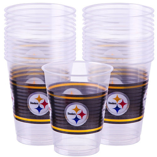 Pittsburgh Steelers Plastic Cups 25ct Image #1