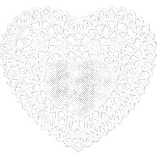 Valentine's Day Heart Doilies 40ct Image #3