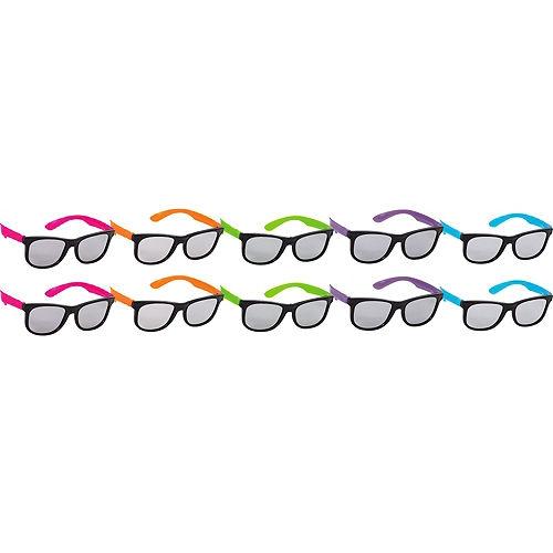 Neon Totally 80s Sunglasses 10ct Image #1