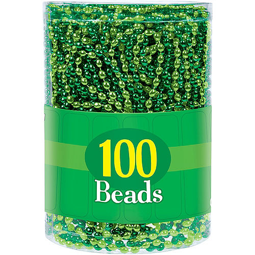 Green Bead Necklaces 100ct Image #2
