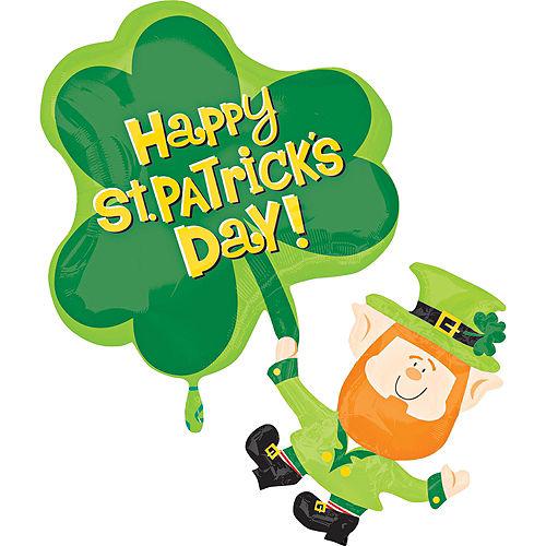 St. Patrick's Day Balloon - Leprechaun, 33in Image #1