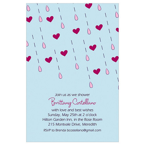 Custom It's Raining Love Bridal Shower Invitations Image #1