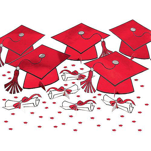 Red Graduation Table Decorating Kit 11pc Image #1
