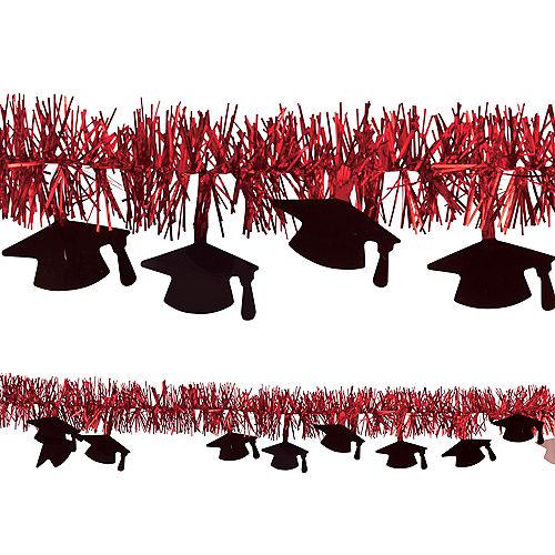 Red Graduation Tinsel Garland Image #1