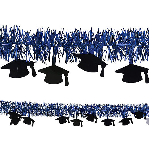 Royal Blue Graduation Tinsel Garland Image #1